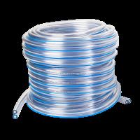Pulsatieslang PVC dubbel 7mm x 13,5mm blauwe streep
